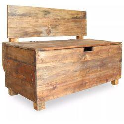 vidaXL Ławka z drewna odzyskanego, 86 x 40 60 cm
