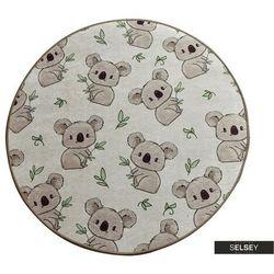SELSEY Dywan do pokoju dziecięcego Dinkley Koala średnica 140 cm (5903025555003)
