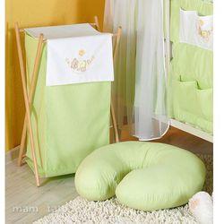 MAMO-TATO Kosz na bieliznę Miś w hamaku w zieleni, towar z kategorii: Kosze na pranie