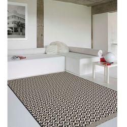 dywan modern geometric black/wool 67x130cm, 67x130cm marki Dekoria