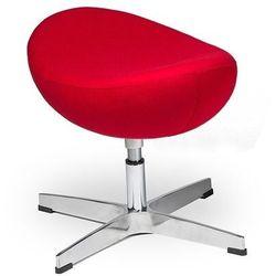 Podnóżek EGG CLASSIC czerwony.17 - wełna, podstawa aluminiowa, 5900168807846