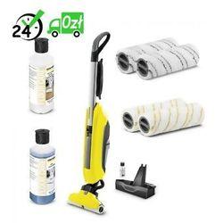 Fc 5 mop elektryczny + rm 537 (500 ml) + rm 534 (500ml) + zestaw padów szarych + zestaw padów żółtych negocjuj cenę! => 794037600, mikołaj 2019, dostawa od ręki! marki Karcher