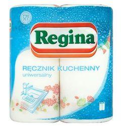 2szt. ręcznik kuchenny biały z nadrukiem kwiatowym marki Regina