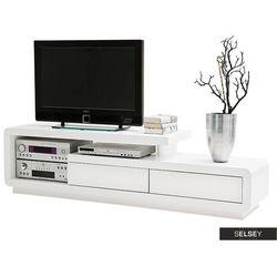 SELSEY Szafka RTV Pavonis 170 cm z białymi szufladami (5903025429458)