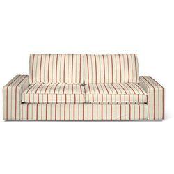 Dekoria Pokrowiec na sofę Kivik 3-osobową, rozkładaną, ecru tło, czerwone paski, Sofa Kivik 3-osobowa rozkładana, Avinon
