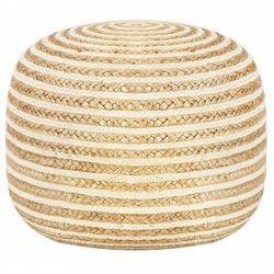Okrągła pufa siedzisko i podnóżek - Azalia 2X, vidaxl_248073