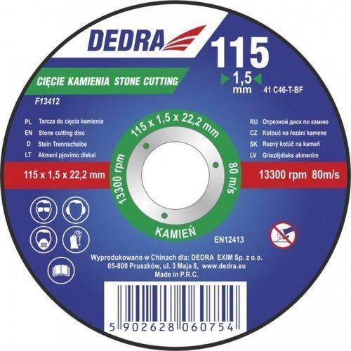 Tarcza do cięcia DEDRA F13422 125 x 1.5 x 22.2 mm do kamienia - produkt dostępny w ELECTRO.pl