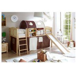 Ticaa łóżko ze zjężdżalnią ekki country sosna naturalna/brązowy-beżowy, marki Ticaa kindermöbel