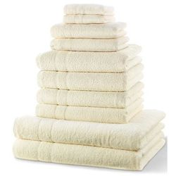 """Komplet ręczników """"new uni""""(10 części) kremowy marki Bonprix"""