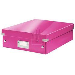 Pudło click & store z przegródkami średnie różowe 6058 marki Esselte