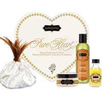 Zestaw olejków w sercu dla ukochanej / walentynki - Kama Sutra Pure Heart Białe