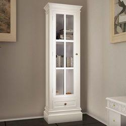 Vidaxl  kredens z 3 półkami i drzwiami, biały (8718475832577)