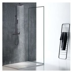 Vente-unique.pl Kolumna prysznicowa peneda ze stali nierdzewnej, kolor czarny mat – 125 cm