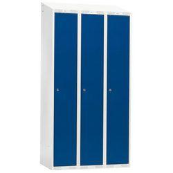 Szafka do przebieralni - 3 sekcje 1900x550x900mm Kolor drzwi: Niebieski