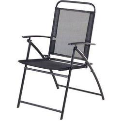 Krzesło ogrodowe czarne aluminiowe składane LIVO (7105272233620)