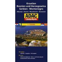 Kroatien, Bosnien und Herzegowina, Serbien, Montenegro. ADAC LanderKarte 1:750 000 (ilość stron 2)