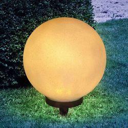 Lampa solarna preeti 25 cm z grotem, jak kamień marki Globo