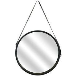 Intesi Lustro okrągłe runa 40cm czarne
