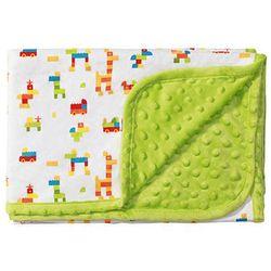 Kocyk dwustronny BĄBELKI z bawełną, BabyOno, zielony - Zielony