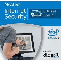McAfee Internet Security 2017 Unlimited PC licencja na rok, kup u jednego z partnerów