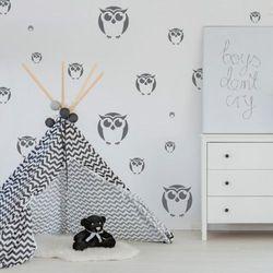 szablon malarski wielokrotny dla dzieci (5 szt.) // SOWY, SZA-DZI-029
