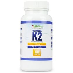MYVITA Witamina K2 MK-7 z natto 60 tabl. - tabletki witaminy i minerały