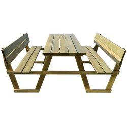 Vidaxl stół piknikowy z ławkami oparciem drewna sosnowego (8718475975953)