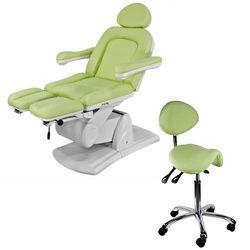 Fotel kosmetyczny  nice do pedicure jasnozielony + krzesło od producenta Physa