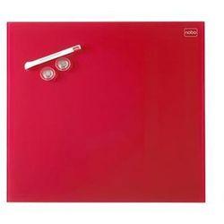 Tablica suchoś. -magn.  diamond, 30x30cm, szklana, czerwona marki Nobo