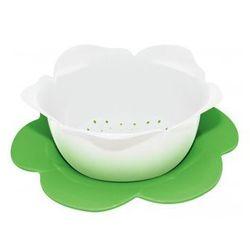Durszlak kwiat z podstawką zak! biało-zielony duży 1283-a851 wyprodukowany przez Zak! designs