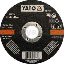 Tarcza do cięcia metalu 115x2,5x22 mm / YT-5921 / YATO - ZYSKAJ RABAT 30 ZŁ