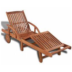 Drewniany leżak ogrodowy - Majorka, vidaxl_42592
