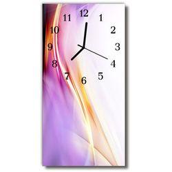 Zegar Szklany Pionowy Sztuka Abstrakcja purpurowy
