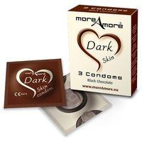 Ciemne prezerwatyw Condom Dark Skin - czekoladowe 3 szt