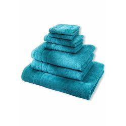 Komplet ręczników Premium (7 części) bonprix niebieskozielony morski