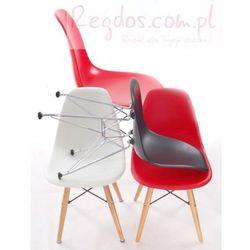 Krzesło JuniorP016 białe, chrom. nogi z kategorii krzesła i stoliki
