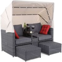 Home&garden Meble ogrodowe  sofa z baldachimem michigan szary + darmowy transport! (5902425322284)