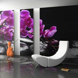 Fototapeta - Chwila relaksu: orchidea i kamienie zen