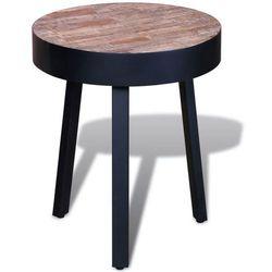 Okrągły stolik z odzyskanego drewna tekowego marki Vidaxl