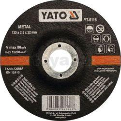 Yato Tarcza do cięcia metalu, wypukła 125x2,5x22 mm / yt-6116 /  - zyskaj rabat 30 zł (5906083961168)
