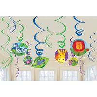 Dekoracja wisząca Swirl Party w Dżungli - 56 cm - 12 szt.