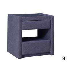 stolik nocny z szufladą typ 3 (eko skóra) 51x51x40 marki Elegance