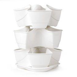 Doniczka na zioła Coubi 3 piętra biały z kategorii Doniczki i podstawki