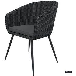Selsey krzesło ogrodowe kencur ciemny technorattan z ciemnoszarym siedziskiem (5903025553214)