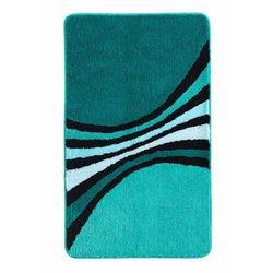Dywaniki łazienkowe w paski niebieskozielony morski marki Bonprix