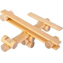 Klocki konstrukcyjne drewniane samolot marki Varis toys