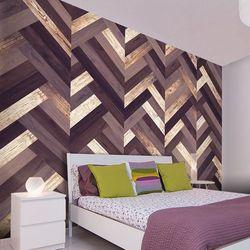 Artgeist Fototapeta - drewniany warkocz