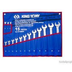 King tony Zestaw kluczy płasko-oczkowych odgiętych 15cz. 6 - 32mm 1275mrn (4712755718111)