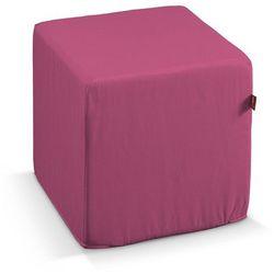 pufa kostka twarda, różowy, 40x40x40 cm, loneta marki Dekoria