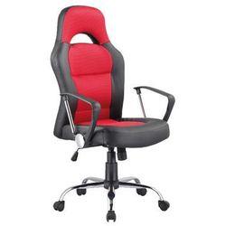 Signal meble Fotel obrotowy q-033 czarny czerwony